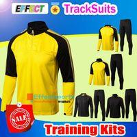 Wholesale Men Waterproof Pant - 2017 2018 REUS men tracksuit Jacket Set Kit 17 18 Training suit pants football AUBAMEYANG GOTZE KAGAWA DEMBELE PULISIC long sleeve tracksuit