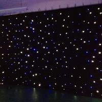 mavi ışık yıldızı toptan satış-LED Yıldız colth parti sahne arka plan için led yıldız curtian mavi beyaz renk led ışık efektleri