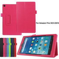 Wholesale Color Kindle Cases - 100pcs Two Folding PU Leather Case Stand Cover for Amazon Kindle Fire HD 7   HD 8   HD 10 2015 Tablet PC Case