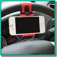 iphone akıllı cep telefonu toptan satış-Evrensel Araba için Streing Direksiyon Cradle Tutucu AKıLLı Klip Araba Bisiklet Montaj akıllı cep samsung Cep Telefonu GPS tutucu ile perakende