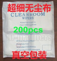 Wholesale 200pcs bag x cm Cleanroom Wipers Cleaning Cloth Wipes Paper Stencil Wping Paper