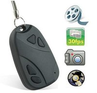 Wholesale High Definition Spy Camcorder - Mini DV Camcorders Car Key Chain Spy Camera 808 car key High Definition Video Hidden Recorder Key Camcorder