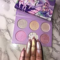 Wholesale Cosmetic Discounts - Big discount! Hot New Tooth and Nail Cosmetics UCN Vs MERMAID Highlighter Palette 6 Colors Makeup Bronzers Highlighters Powder Free Shipping