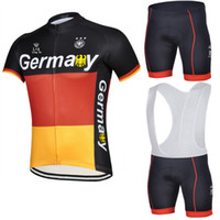 Wholesale Germany Clothes - Wholesale-2015 Long Ao Short Sleeve Cycling Jersey Germany Team Bicycle Jersey Bib Shorts None Bibs Maillot Bike Clothing Germany Jersey