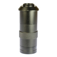 lente de zoom de vídeo al por mayor-Freeshipping Industry Lens 8X -100X Aumento Ajustable 25mm Zoom C-Lente de cristal para lente de la industria Microscopio Cámara Ocular Lupa