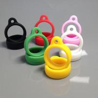 ego t lanyard ringe großhandel-Ego-Schlüsselband Silikon-Halsketten-Ring für eGo eGo-t eGo-c Twist Batterie-Hals-Schlüsselband Multi Farben-Ring Silikon-Material e Cig Lanyard Ring