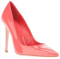 Wholesale Cheap Size 11 High Heels - Pink Wedding Shoes Womens Pumps Cheap Modest 2016 Hot Sale Custom Made Plus Size Pointed Toe HIgh Thin Heels Real Image Ladies Pumps