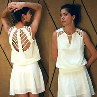 Wholesale Loose Dress Styles - new 2015 summer style women fashion o-neck vestidos sleeveless casual loose mini dress FG1511