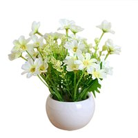 Wholesale Decorative flowers suit the living room table artificial flowers silk flowers placed in a plastic pot nation livin