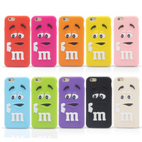 3D Cartoon MM Duft Schokolade Regenbogen Bohnen Silikon Hülle für iPhone 4 5 5C 6 Plus iPod Touch Samsung Galaxy S6 Edge Plus Hinweis Note5