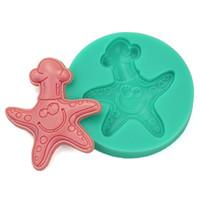 ingrosso stampi di stella-3D Starfish partito fondente torta zucchero artigianale stampo in silicone sapone muffa cioccolato cottura strumento topper torta