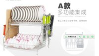 Wholesale Double Dish Rack - Stainless steel double dishes. Large bowl of waterlogging caused by excessive rainfall aircraft. Large size plate rack plate frame.