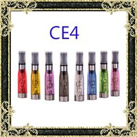 Wholesale E Cig Ce4 Wicks - CE4 Atomizer 1.6ml 2.4ohm vapor tank eGo Clearomizer Electronic Cigarette 8 colors for e-cig battery 4 wick CE4+ CE5 DHL free shipping