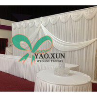 Wholesale Cheapest Price White Color Wedding Backdrop Curtain Stage Background With Pipe Stand Stent