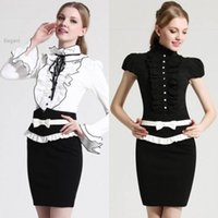 Wholesale Discount Sexy Straight - Crazy Discount Bodycon Skirts OL Career High Waist Pencil Skirt Business Suit Women's Sexy Business Wear Ladies Skirt 38