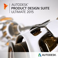 Wholesale Graphic Products - Free shipping Autodesk Product Design Suite Ultimate 2015 for 64bit Full Version with disc Color Packaging