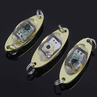 LED Deep Drop Underwater Eye Shape Fishing Squid Fish Lure Light Lampe clignotante 10pcs / lots
