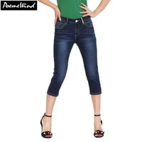 143c8755171 Wholesale-PoemeWind Ladies 3 4 Jeans Cropped Denim Pants Capri Bottoms  Capri Trousers Summer Pants For Women Capris Plus Size 28-38 40
