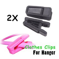 Wholesale Skidproof Clothes - 2pcs Lot Magic Non-slip Skidproof Trousers Clothes Clip For Pile Coating Hanger Use with Slim-Line Hangers PTSP