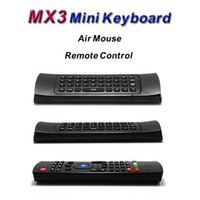 ingrosso android tv mic-X8 Wireless Remote Controller con Mic Voice IR Learning 6 Axis 3D Fly Air Mouse Mini tastiera MX3 per M8 Android TV Box K0240M IPTV 5pcs
