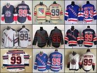 Wholesale Linen China - Cheap New York Rangers Jersey 99 Wayne Gretzky Jersey Blue White Wholesale NY Rangers ice Hockey Jerseys China