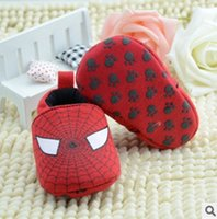 Wholesale Infant Shoes Wholesale China - Wholesale Baby Shoes China Spiderman First Walker Infant Shoes Non-Slip Prewalker Free Shipping Hot Sale 3Pairs lot