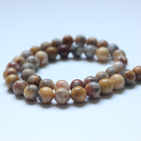 """Wholesale Natural Lace Agate - Round Crazy Lace Agat Beads Selectable Size:6mm 8mm 10mm 12mm,Natural Stone Bead For Bracelet Makingstrand 15"""" Free Shipping"""