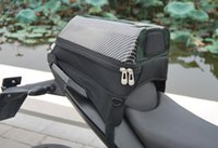 bolsa trasera de moto al por mayor-Nueva llegada UGLYBROS motocicleta bolsa de cola motocicleta asiento trasero paquete negro bolsa de fibra de carbono bolsa de cola 8 colores disponibles