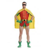 xxs disfraces de halloween al por mayor-Jason Todd Version Robin Spandex Traje de superhéroe Halloween Party Cosplay Lycra spandex zentai traje