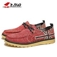 Wholesale Low Heel Sneakers For Men - New Arrival Men's Breathable Canvas shoes Print Low heel Round toe Summer Casual Sneakers shoes for Male 2 colors in 39-44