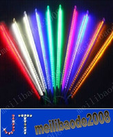 Wholesale Led Running Lights Pure White - FREE SHIPPING 80cm 78 LED christmas meteor rain tube light,led running light tube 10tube set MYY4022A