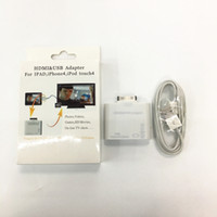 Купить Iphone4 Дисплеи-Адаптер HDMIUSB для IPAD, iphone4, ipod touch4 Передача iPad iphone 4G HDMI-сигналы для HD TV / Display