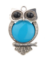 Wholesale Pendant Scarf Women Green - Factory Top Fashion Direct Sale Green Stone Charms Owl Pendant Necklace Scarf Components 2015 Women Diy Jewelry Findings Scarves Hm-054