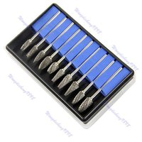 Wholesale Tungsten Steel Burs - F85 Free Shipping Tungsten Steel Dental Burs Lab Burrs Tooth Drill 10PCS
