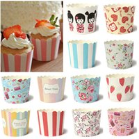 Купить Сумки Для Бумажных Мешков Оптом-50pcs / bag Utility Cake Baking Paper Cup Cupcake Muffin Cases fit Home Party Tools Wholesale Free