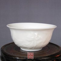 1pcs gros-céramique de Jingdezhen Blanc Diao Lotus Bone china effort de Coupe Commodities