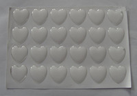"Wholesale Epoxy Resin Dots - 1"" 25mm heart epoxy stickers clear epoxy dots resins epoxy dome for arts and crafts"