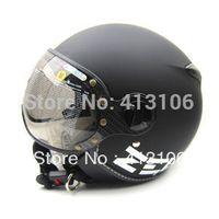 Wholesale Helmet Momo - Wholesale-ZEUS 210 Matt Black MOMO Motorcycle helmet, Free shipping, Removable washable check pads, Removable sun visor, ECE approved