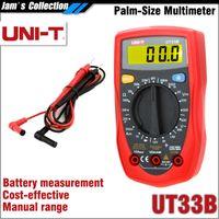 Wholesale Digital Multimeter Free - Free shipping UNI-T UT33B Palm Size Digital Mini Multimeter with battery measurement battery test digital miniature