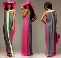 Wholesale Pregnant Women Maxi - S-XL Plus Size Sleeveless Maternity Clothes Casual Chiffon Maternity Maxi Dress   Clothes For Pregnant Women 6 Colors