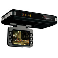 leds detectores al por mayor-SQ680S 3 en 1 VGR Detector de radar GPS por video X.K.KA Banda Google Map 3 ejes G-Sensor 720P Lente de alta definición DVR para automóvil para visión nocturna E-Dog