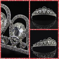 Wholesale Wedding Accesories For Hair - Fashion Bridal Hair Accesories Artificial Fully Rhinestone Adorned Hair Tiaras Headpiece Performance Headwear From China For Bridal Wedding