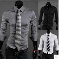 Wholesale Special Offers Dresses - Wholesale-2016 Men Shirts Man Clothes Cotton Full Camisas Hombre Vestir New Special Offer Solid Color Male Leisure Time Long Sleeve Shirt