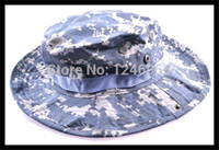 Wholesale Marines Military Hats - Wholesale-Hunting Military Cotton Boonie Hat ACU Camo Marine Bucket Hot