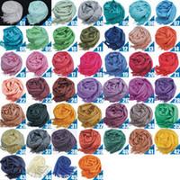 Wholesale Cashmere Knitted Shawl Wraps - hot women lady spring autumn big tassel long knit scarf imitation Pashmina cashmere gift scarf shawl wrap neckerchief hot 120PCS