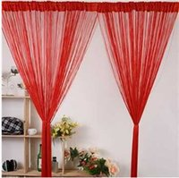 Wholesale Fringe String Curtain - Wholesale-2015 New Arrival 300cm x300cm String Curtain,Fringe Panel, String Panel,Room Divider Wedding Drapery 20 Colors Free Shipping