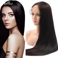 Wholesale factory for hair color for sale - Group buy human hair lace front wigs for black women wigs manufacturer factory price natural color silky straight high density wigs