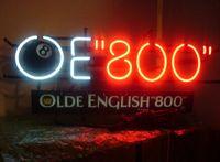 "Wholesale billiards signs - Olde English '800' Printed On Plasticboard 8-ball OE ""800"" Neon Sign Handmade Custom Real Glass Tube Billiards Display Neon Signs 17""X8"""