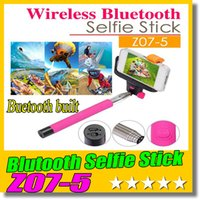 Wholesale Android Cable Remote - Z07-5 Wireless Bluetooth Selfie stick Extendable Handheld Remote Control Self-timer Monopod For IOS iphone 6 Android phone No need cable
