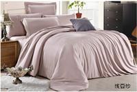 Wholesale Western Style Doona Covers - king size Luxury bedding set queen duvet cover double bed quilt doona sheet linen bedsheet bedspread cameo brown khaki tencel western